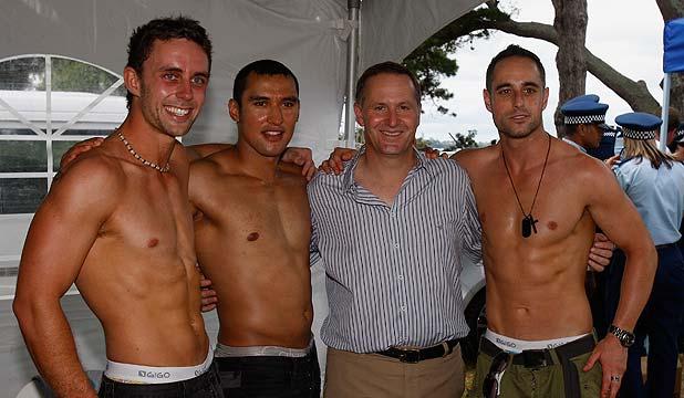 John Key at Big Gay Out in 2011