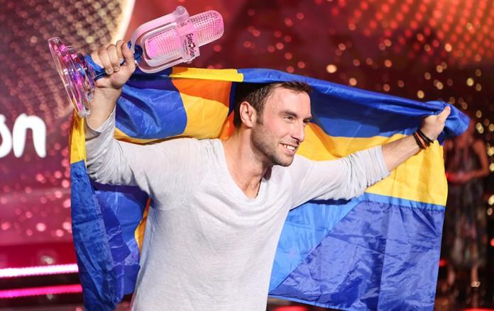 Eurovision 2015 - Winner Sweden Måns Zelmerlöw . Source Eurovision and Thomas Hanses (EBU)