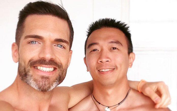 Mr Gay World 2016 Roger Gosalbez and Bernard Lee in Malta - supplied