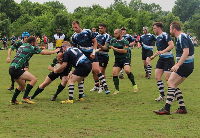 Melbourne Chargers (Green and Black) playing in the Bingham Cup in Nashville USA - Source: Facebook