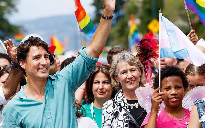 Canadian Prime Minister Justin Truedeau at Vancouver Pride March (Instagram)