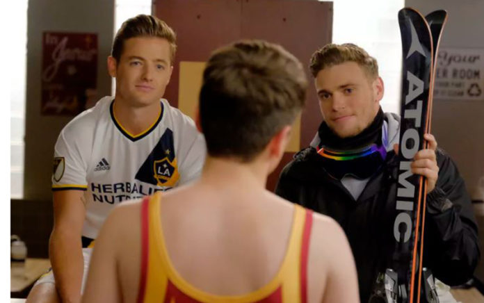 Robbie Rogers and Gus Kenworthy on the Real O'Neals (ABC)