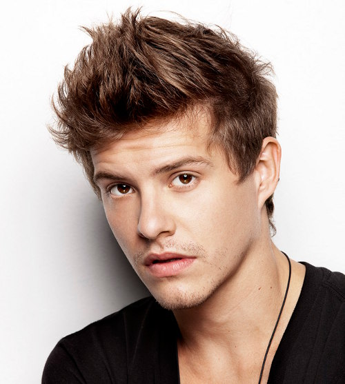 Cool Spiky Hairstyle For Men - Xavier Samuel