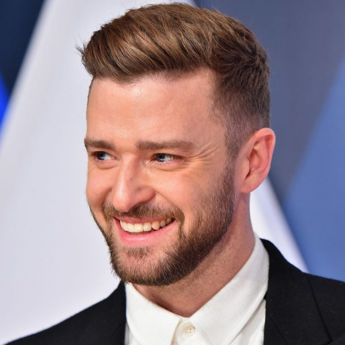 Slick Hairstyle for Men with Straight Hair - Justin Timberlake