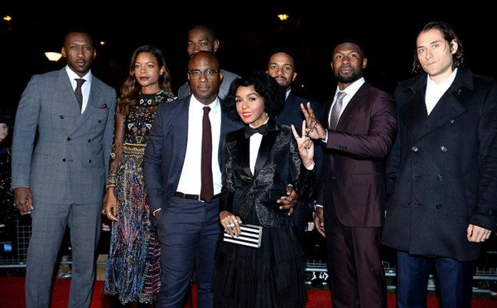 (Photo by Jeff Spicer/Getty Images for BFI) Mahershala Ali; Naomie Harris; Tarell Alvin McCraney; Barry Jenkins; Janelle Monáe; Andre Holland; Trevante Rhodes; Jeremy Kleiner