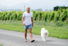 Ricky Devine-White with his dog (Supplied