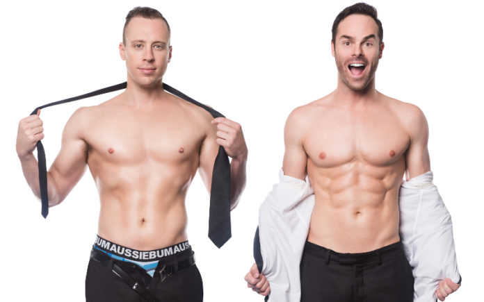 The Naked Magicians - Christopher Wayne and Mike Tyler (Supplied)