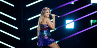 Jess Mauboy on stage at Eurovision 2018 in forst rehearsal - Photo by: Thomas Hanses (Eurovision)
