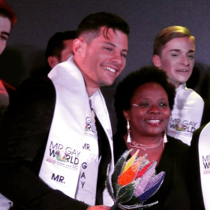 Mr Gay World 2018 Jordan Bruno with Mayor of Knysna Eleanore Bouw-Spies - (Mamabaonline/Facebook)