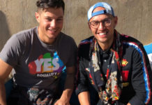 Mr Gay World 2018 Jordan Bruno and first runner-up Ricky Devine-White