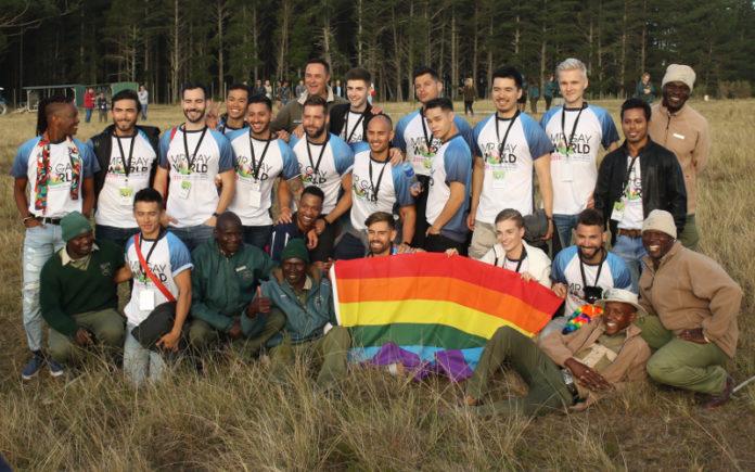 Mr Gay World 2018 delegates at Knysna Elephant Park, South Africa (Gerhard Meiring Photography - Facebook)