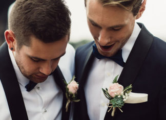 Australia's First Gay Wedding Michael and Ben Gresham-Petchell (Photo - Mark Morgan)