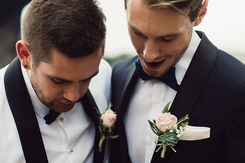 Australia's First Gay Wedding Michael and Ben Gresham-Petchell (Photo - Mark Morgan)