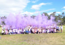 Colo High School Students celebrating Wear it Purple Day - (Supplied)