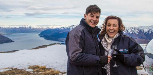 Mr Gay World 2018 Jordan Bruno and his mum Anna in Queenstown. (instagram)