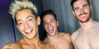 Frankie Grande and his boyfriends (Instagram)