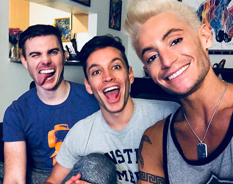 The throuple (Instagram) Frankie Grande