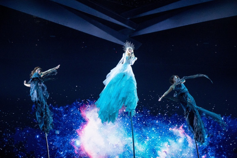 Australia's Eurovision Entrant Kate Miller-Heidke in rehearsals for Eurovision 2019 in Tel Aviv - Photo by: Andres Putting (Supplied)