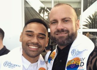 Mr Gay New Zealand Nick Francis and Mr Gay Pride Australia Rad Mitic in Cape Town enter the final day of Mr Gay World 2019. (Instagram)
