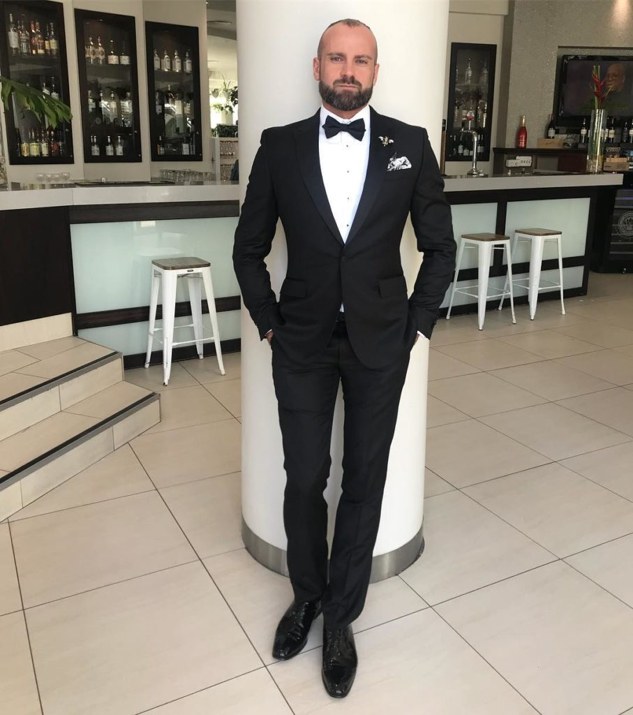 Rad Mitic preparing for the Formal Judging in the Mr Gay World competition. (Instagram)