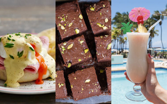 Hilton inventions - Eggs Benedict, Brownies and Pina Colada