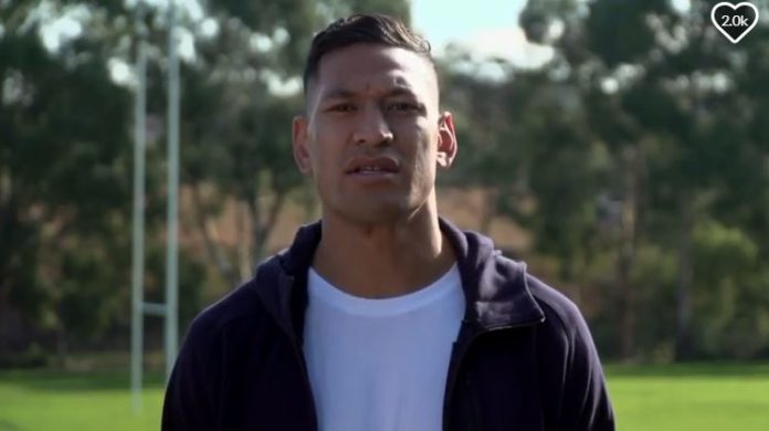 Israel Folau in his GoFundMe video