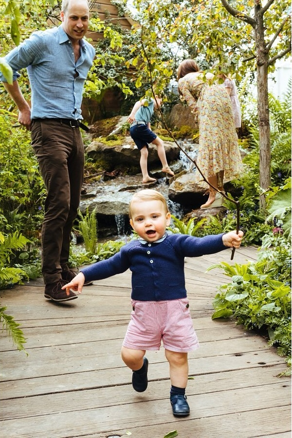 The Cambridge family at the Chelsea Flower Show - Prince William and Louis