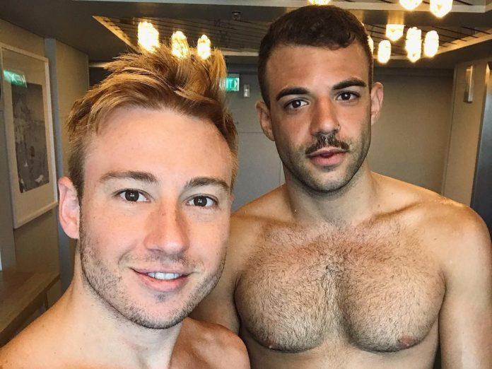 Newly engaged Matthew Mitcham and Luke Rutherford (Instagram)