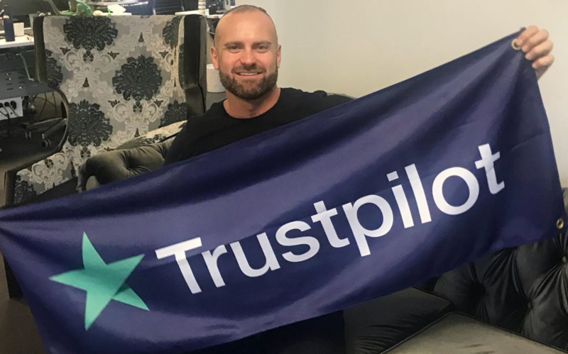 Mr Gay Pride Australia 2019 Rad Mitic at Trustpilot offices in Melbourne (Instagram)