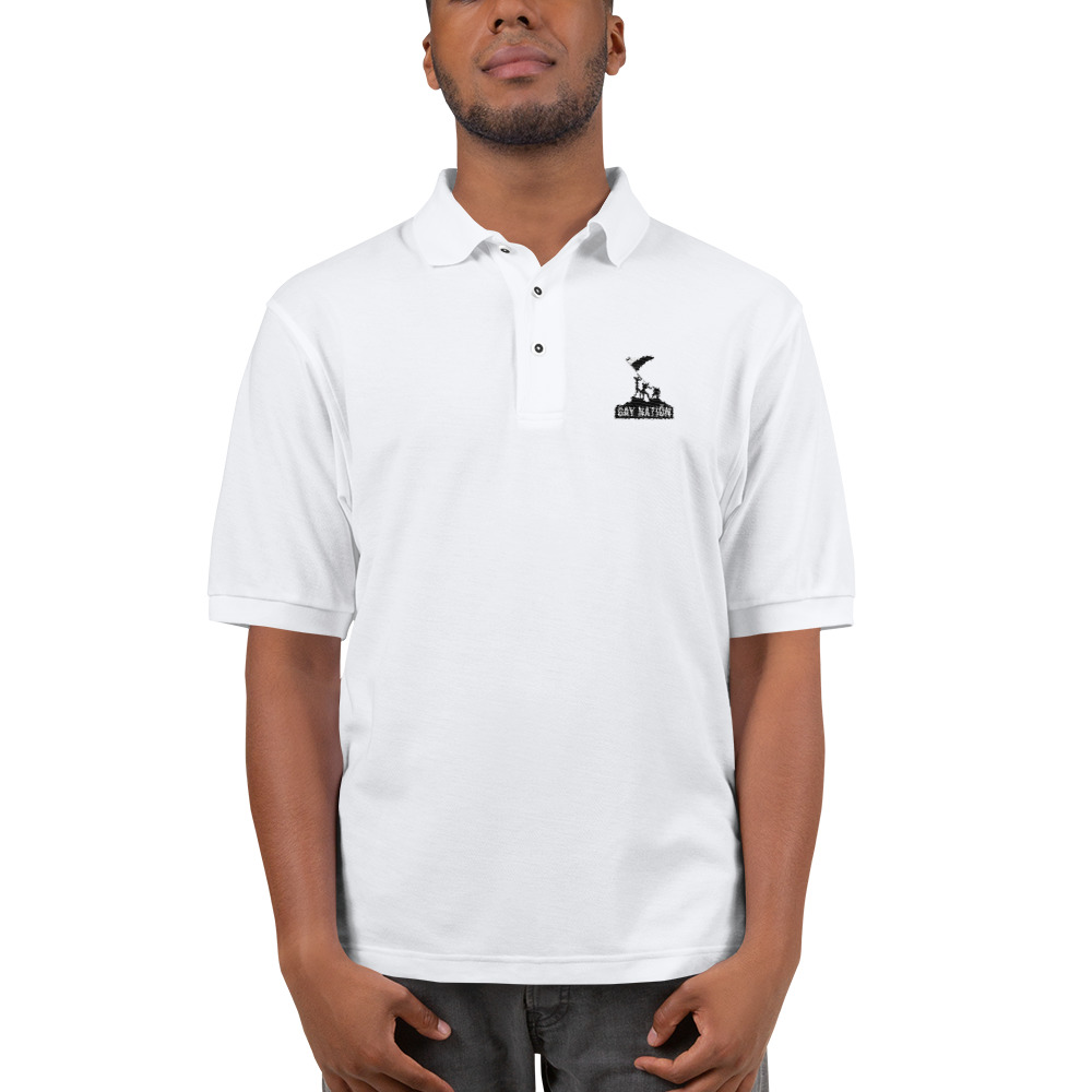 Gay Nation Iconic Embroidered Polo Shirt