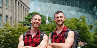 Tim and Rod on The Amazing Race Australia helping the bushfire efforts