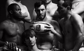 Naked calendar for french rugby club
