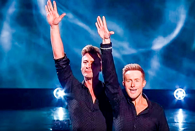 Ian 'H' Watkins and professional partner Matt Evers Dancing on Ice