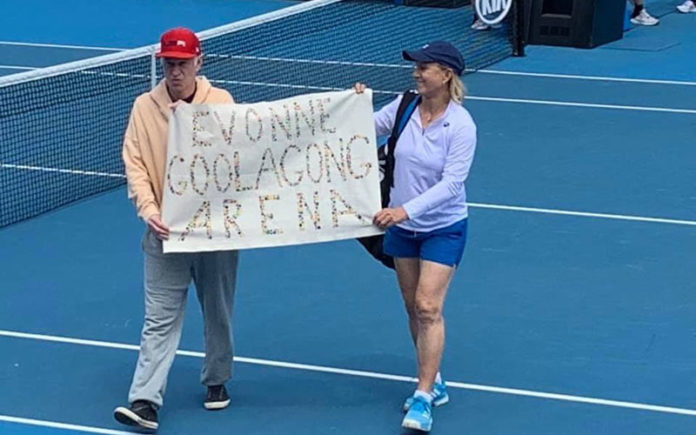 John McEnroe and Martina Navratilova