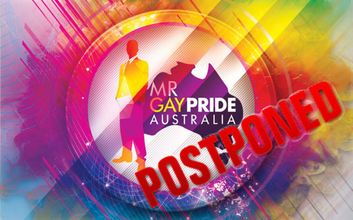 Mr Gay Pride Australia 2020 Postponed