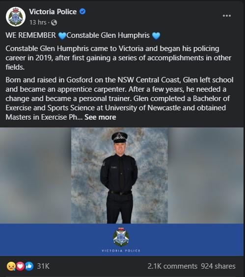 Victoria Police Facebook