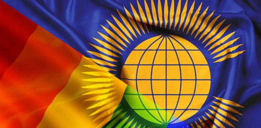 Commonwealth and Rainbow flags