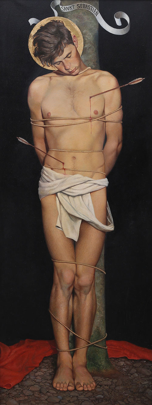 "OWE ZERGE. ""Saint Sebastian"", oil on canvas, signed and dated 1925. (Photo: Garpenhus Auctions)"