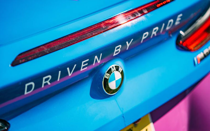 pride bmw badge