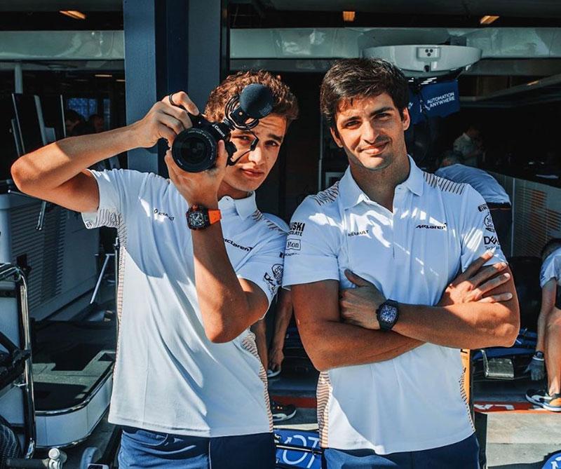 2020 McLaren drivers Lando Norris and Carlos Sainz (Instagram)
