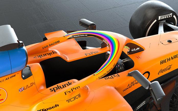 McLaren rainbow halo