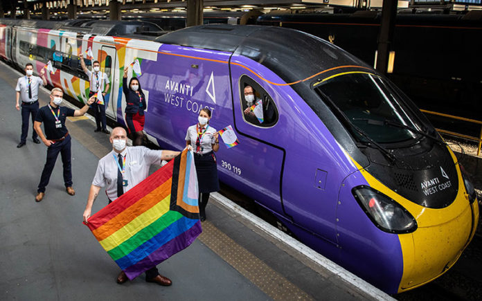 Pride Train ready to depart with its LGBT+ Crew (Twitter)