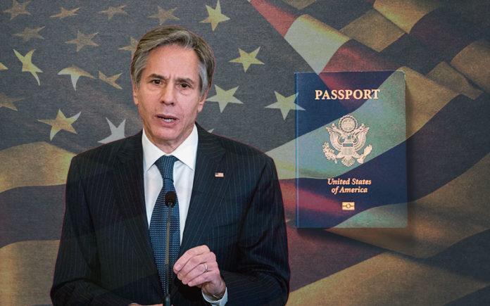 non-binary passports, antony blinken