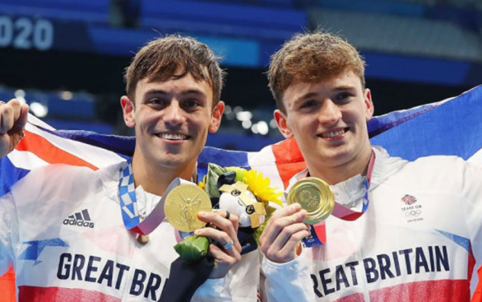 Tom Daley and Matty Lee win gold. (TeamGB Instagram)