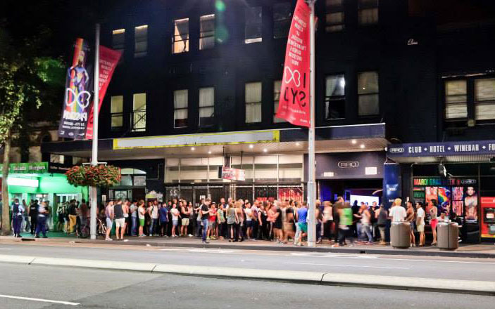 Just as iconic as the club, the lines outside of ARQ were always long and entertaining. (Gazzarazzi photography - Facebook)