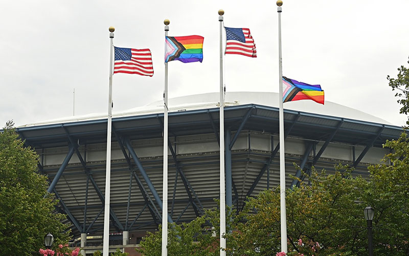 Progress Pride Flags fly at Flushing Meadow (USTA)